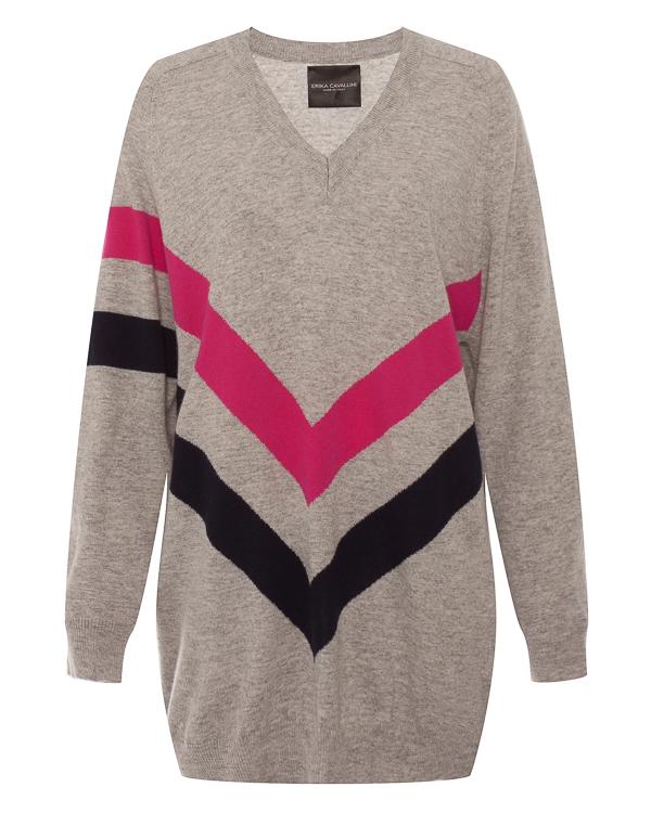 пуловер  из шерсти и кашемира  артикул P8AC13 марки Erika Cavallini купить за 32900 руб.