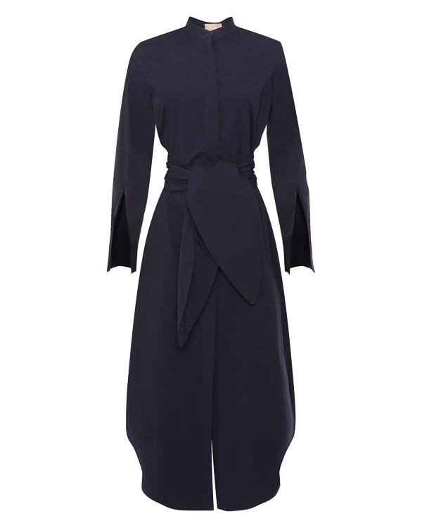 платье миди рубашечного кроя из хлопка  артикул P8PJ05 марки Erika Cavallini купить за 33400 руб.