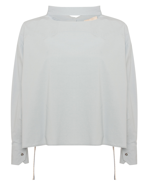 блуза из хлопка нестандартного кроя  артикул P8PJ10 марки Erika Cavallini купить за 25700 руб.