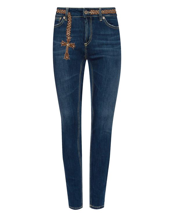 джинсы Slim из эластичного денима с вышивкой артикул P990DS146 марки DONDUP купить за 16100 руб.