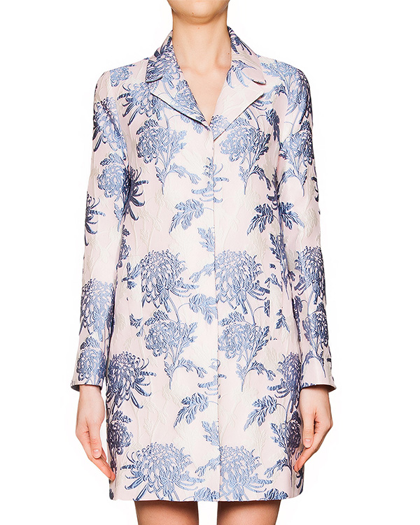 пальто из плотной ткани с фактурным цветочным узором артикул PACIFIC430060 марки P.A.R.O.S.H. купить за 30900 руб.