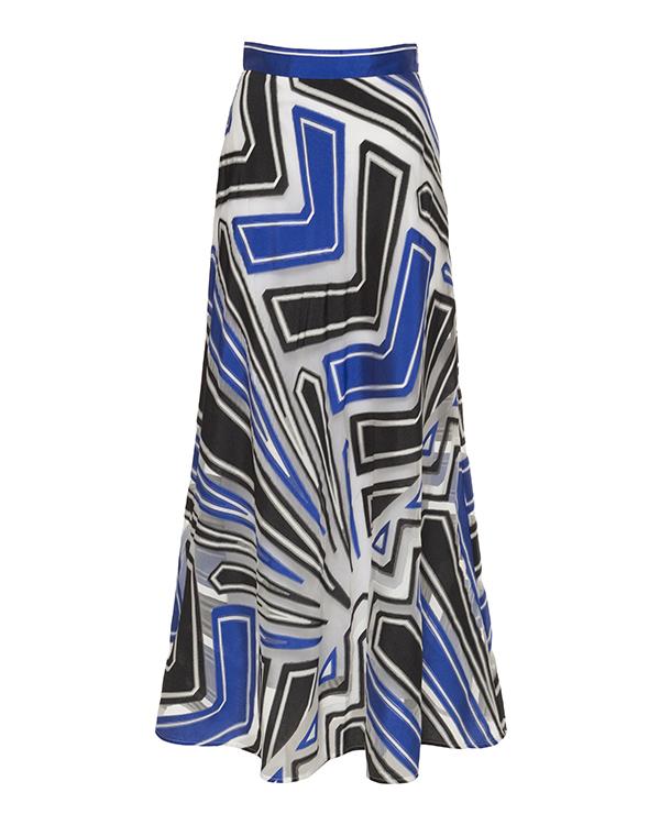 юбка из плотной ткани с шелком артикул PAKO620148 марки P.A.R.O.S.H. купить за 27600 руб.