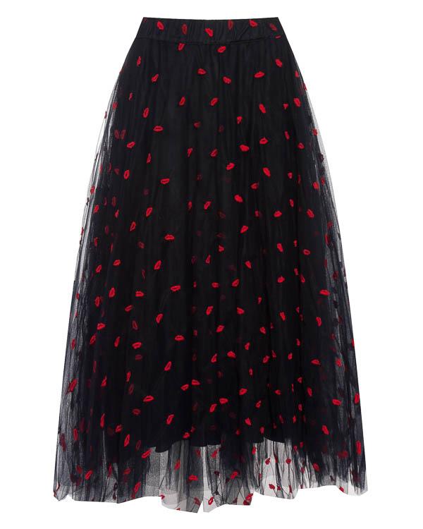 юбка миди из фатина с вышивкой артикул PALABRA620029X марки P.A.R.O.S.H. купить за 26300 руб.