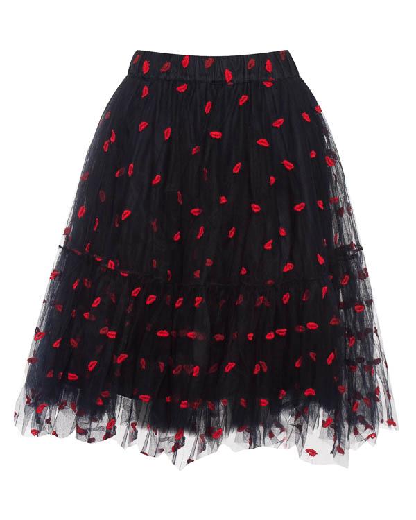 юбка до колена из фатина с вышивкой  артикул PALABRA620244 марки P.A.R.O.S.H. купить за 20200 руб.