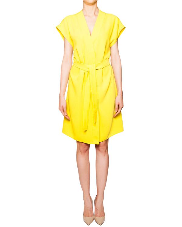 платье из легкой мягкой ткани с завязками на поясе артикул PANTERA720403 марки P.A.R.O.S.H. купить за 11900 руб.