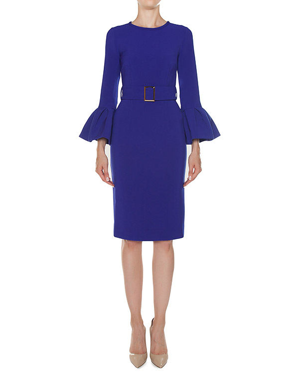 платье футляр из крепа с поясом  артикул PASTELLO721322 марки P.A.R.O.S.H. купить за 17000 руб.