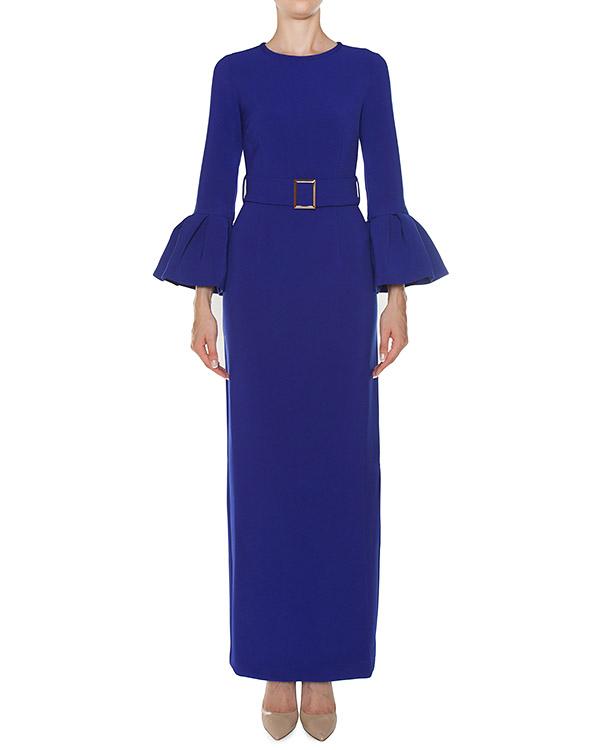 платье макси из крепа с поясом артикул PASTELLO721358 марки P.A.R.O.S.H. купить за 26400 руб.