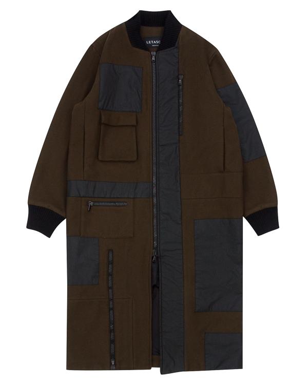 пальто из шерсти с отделкой артикул PCHCOT01 марки Letasca купить за 42400 руб.