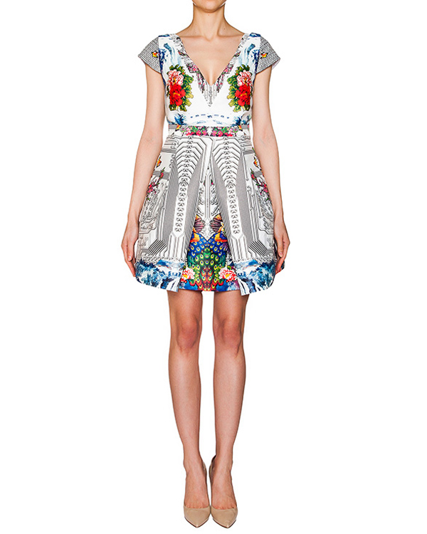 платье из тонкого неопрена с ярким принтом артикул PE16A111 марки Piccione piccione купить за 26300 руб.