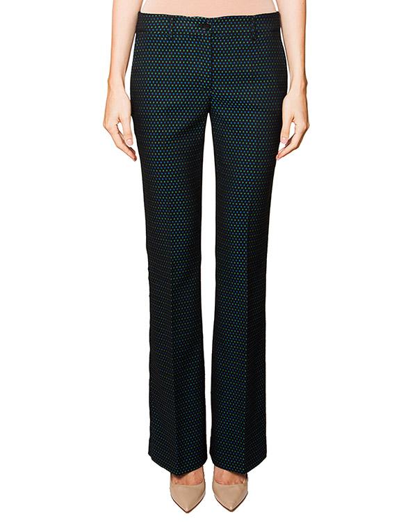 брюки слегка расклешенного кроя в мелкий узор артикул PEDRO230009 марки P.A.R.O.S.H. купить за 9000 руб.