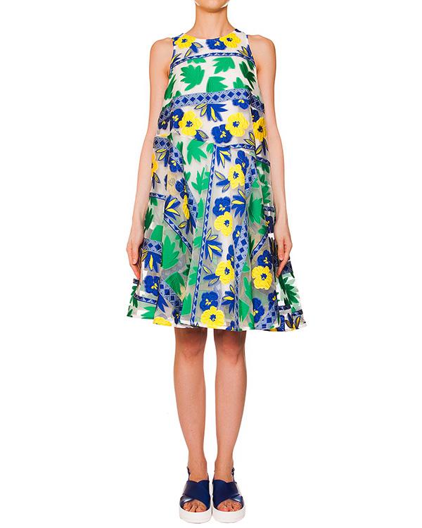 P.A.R.O.S.H. из полупрозрачной ткани с вышитым цветочным рисунком; нижнее платье из легкого хлопка артикул PENELOPE720308 марки P.A.R.O.S.H. купить за 28400 руб.