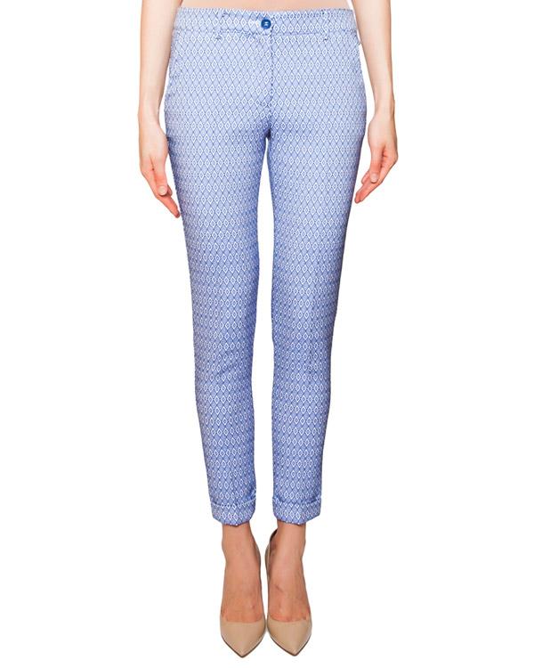 брюки прямого кроя из плотной ткани с фактурным геометрическим узором артикул PEPITA230008 марки P.A.R.O.S.H. купить за 10400 руб.