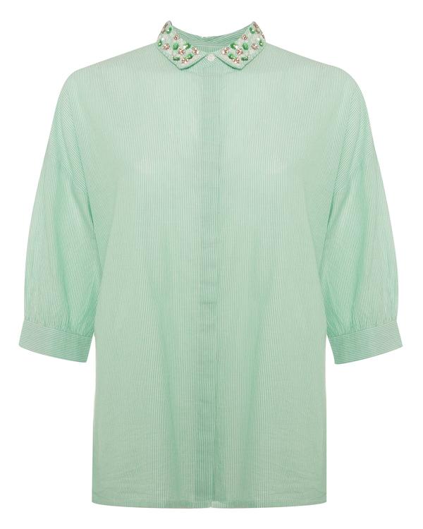 рубашка из хлопка с расшитым отложным воротником  артикул PEPSA марки Essentiel купить за 11800 руб.