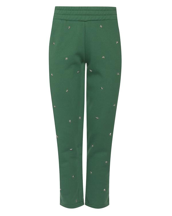 брюки из хлопка с отделкой металлическими звездочками  артикул PF181122 марки Zoe Karssen купить за 13900 руб.