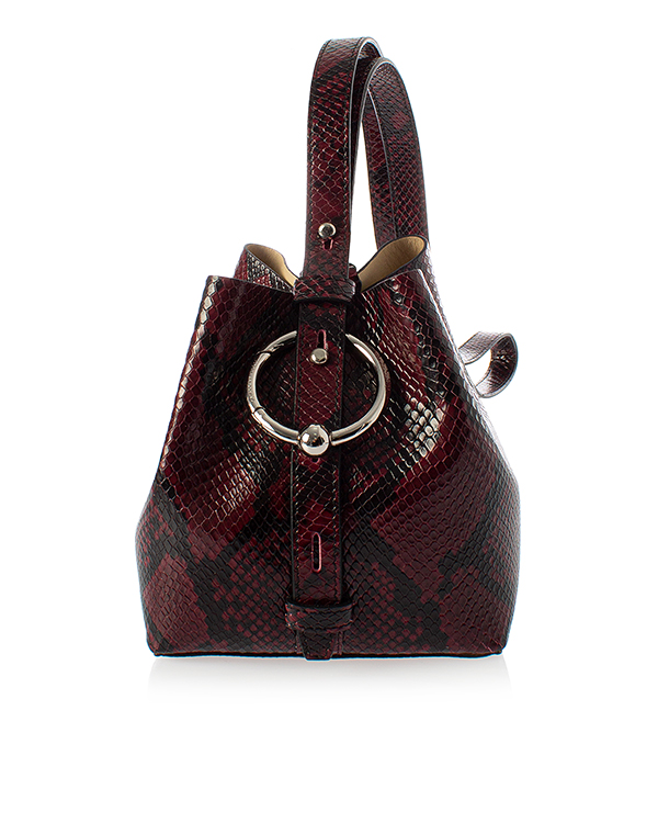 Rebecca Minkoff backet bag из кожи с фактурой под рептилию артикул  марки Rebecca Minkoff купить за 12700 руб.