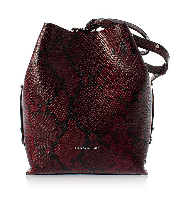 Rebecca Minkoff backet bag из кожи с фактурой под рептилию артикул  марки Rebecca Minkoff купить за 16500 руб.