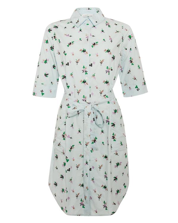платье рубашечного кроя из хлопка с вышивкой  артикул PIKAR марки Essentiel купить за 19700 руб.