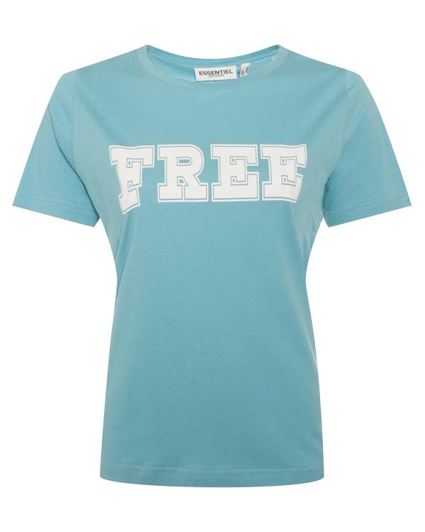 футболка из хлопка с принтом  артикул PIMOUSSE марки Essentiel купить за 4800 руб.