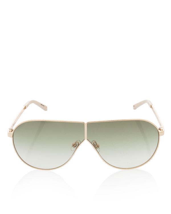 очки авиаторы в металлической оправе с покрытием артикул PL171 марки Linda Farrow купить за 19300 руб.