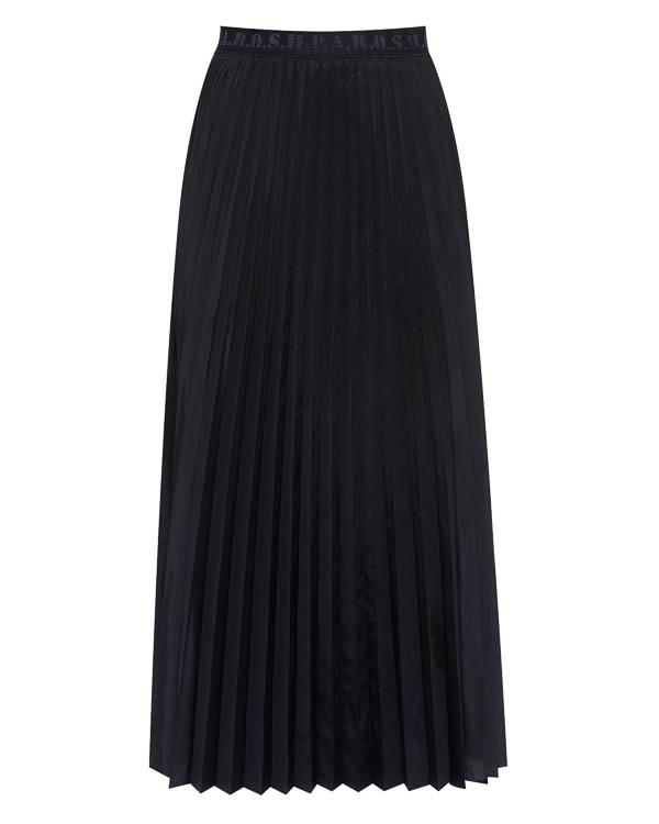 юбка миди из плиссированного материла артикул POON620554 марки P.A.R.O.S.H. купить за 12000 руб.
