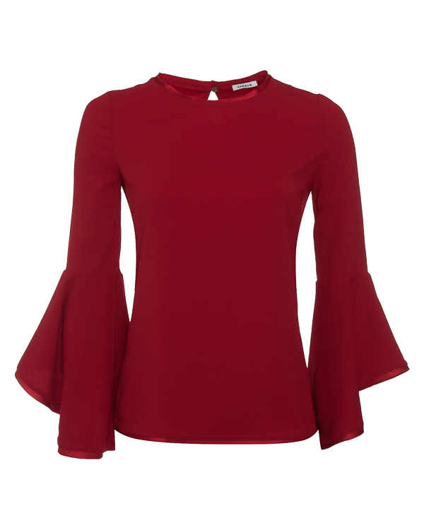 блуза из тонкого материала с воланами артикул POSEIDON310409 марки P.A.R.O.S.H. купить за 15300 руб.