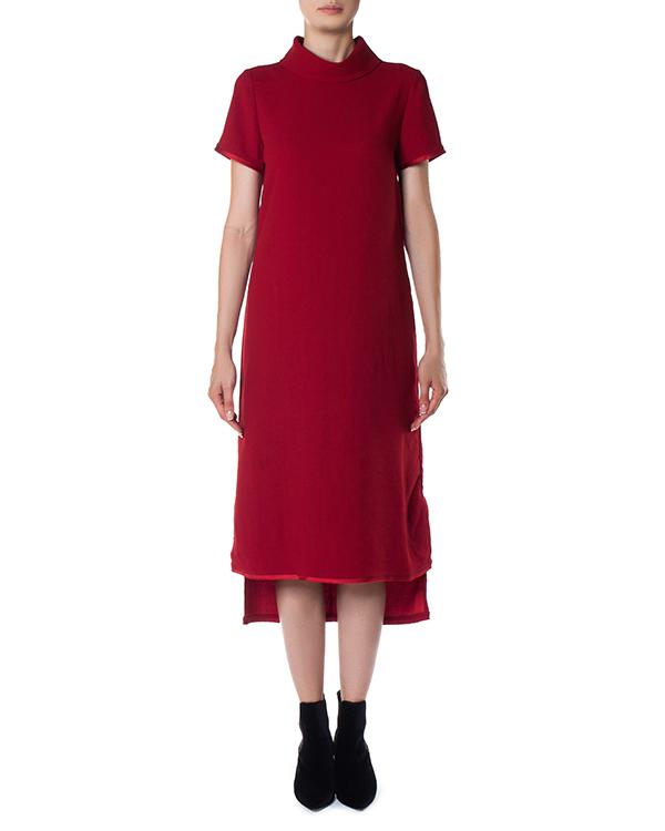 платье миди асимметричной длины артикул POSEIDON721380 марки P.A.R.O.S.H. купить за 11000 руб.