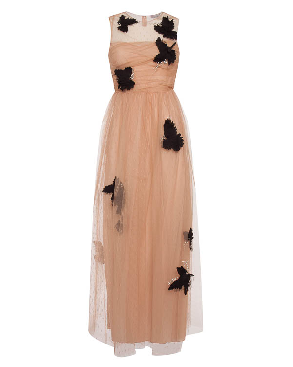 платье макси из многослойной сетки  артикул PR3VA655 марки Valentino Red купить за 101200 руб.
