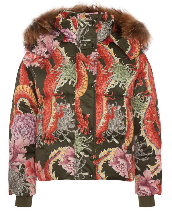 куртка объемного силуэта с восточным принтом  артикул PRAGO490513X марки P.A.R.O.S.H. купить за 47200 руб.