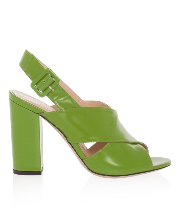 босоножки из кожи на устойчивом каблуке  артикул PRISKA марки Essentiel купить за 18100 руб.
