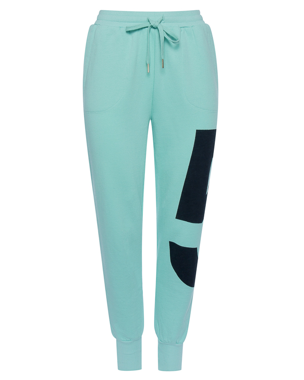 брюки из трикотажного хлопка с принтом  артикул R361 марки 5Preview купить за 4100 руб.