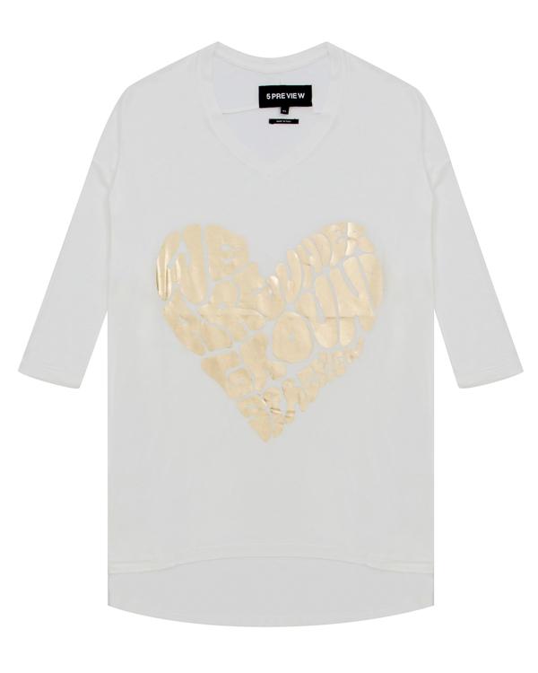 футболка из трикотажной вискозы с принтом артикул R420 марки 5Preview купить за 4900 руб.