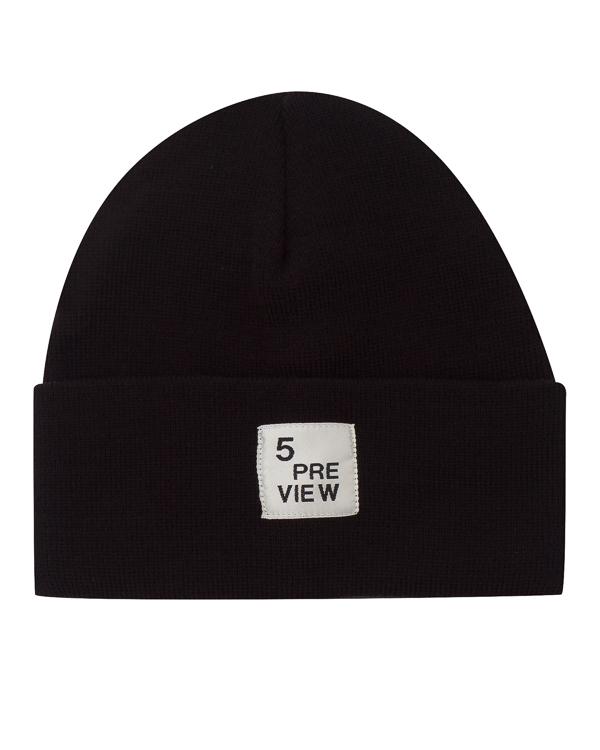 шапка с отворотом и аппликацией артикул R590 марки 5Preview купить за 2300 руб.