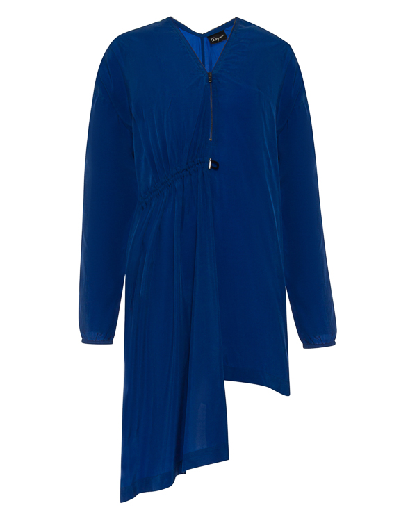 платье асимметричного кроя из тонкого материала купро артикул RGAY719/9 марки ROQUE ILARIA NISTRI купить за 14600 руб.