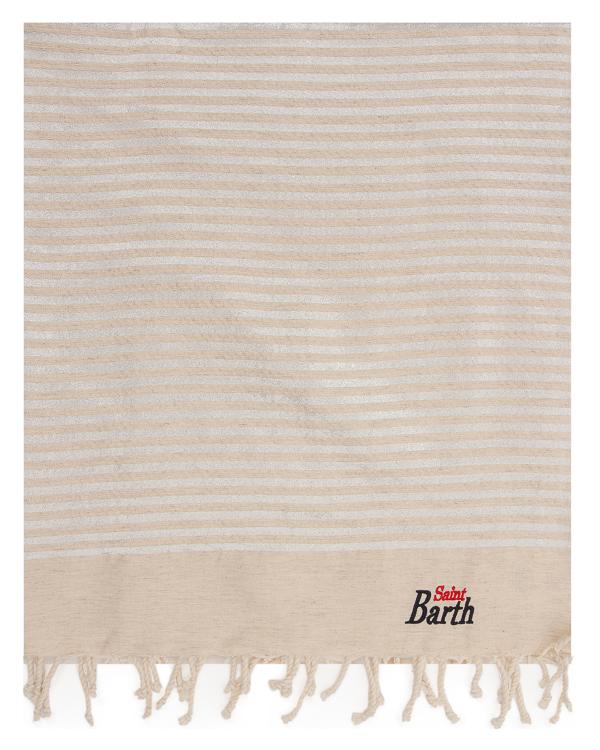MC2 Saint Barth для пляжа из плотного хлопка в полоску артикул RIGATOLUREX марки MC2 Saint Barth купить за 4000 руб.
