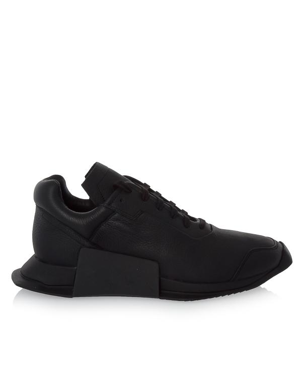 кроссовки Rick Owens X Adidas Level Runner из кожи  артикул RM17F8820 марки RICK OWENS купить за 25000 руб.