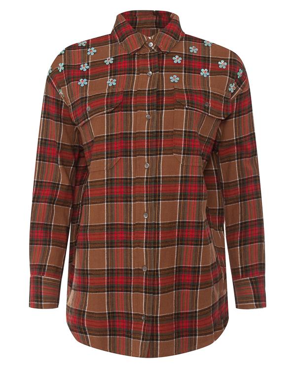 рубашка из фланелевого хлопка в клетку  артикул ROMANCE марки Essentiel купить за 13100 руб.