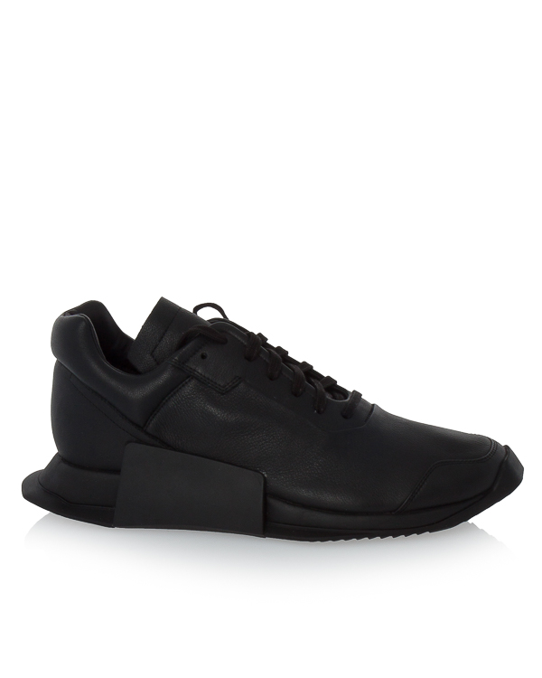 кроссовки Rick Owens X Adidas Level Runner из кожи артикул RW17F8820 марки RICK OWENS купить за 25000 руб.