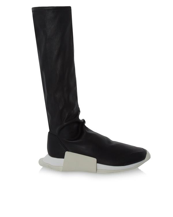 сапоги Rick Owens x Adidas из мягкой кожи артикул RW17F8823 марки RICK OWENS купить за 35200 руб.