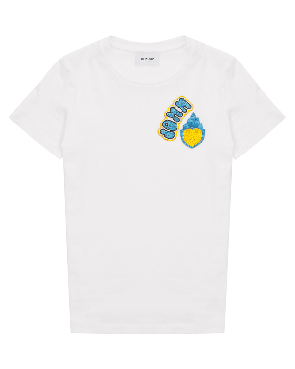 футболка из хлопка с аппликацией  артикул S007S18 марки DONDUP купить за 6800 руб.