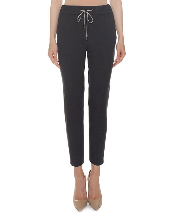 брюки из хлопка с эластичной линией пояса артикул S04810J0-60B марки Peserico купить за 17200 руб.