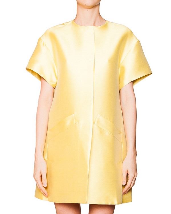 пальто свободного кроя из плотной фактурной ткани с шелком артикул S16JJK606UNI марки SI-JAY купить за 11300 руб.