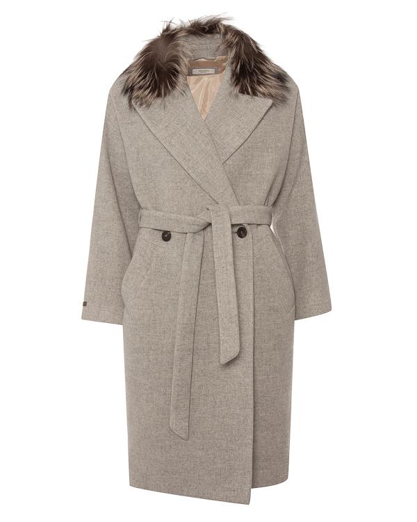 Peserico халат из мягкой шерсти с меховым воротником артикул S20458A00A марки Peserico купить за 95300 руб.