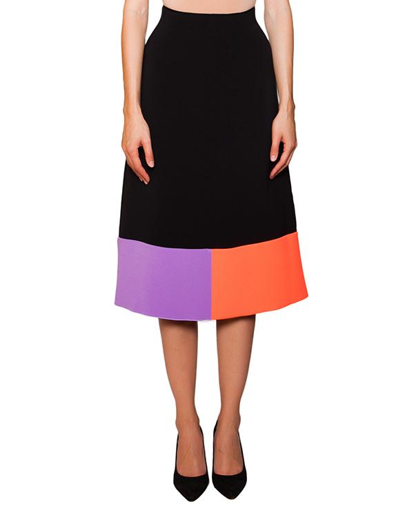 юбка из плотной ткани с яркими цветовыми блоками артикул S229-1 марки Roksanda Ilincic купить за 23600 руб.