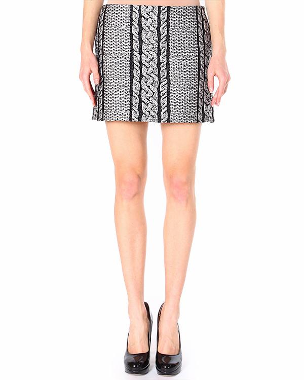 юбка mini с принтом, имитирующим вязанный узор артикул S45MA0093-S43355 марки VIKTOR & ROLF купить за 11200 руб.