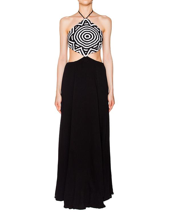платье в виде вязаного топа с длинной расклешенной юбкой артикул S611094900 марки Mara Hoffman купить за 29900 руб.