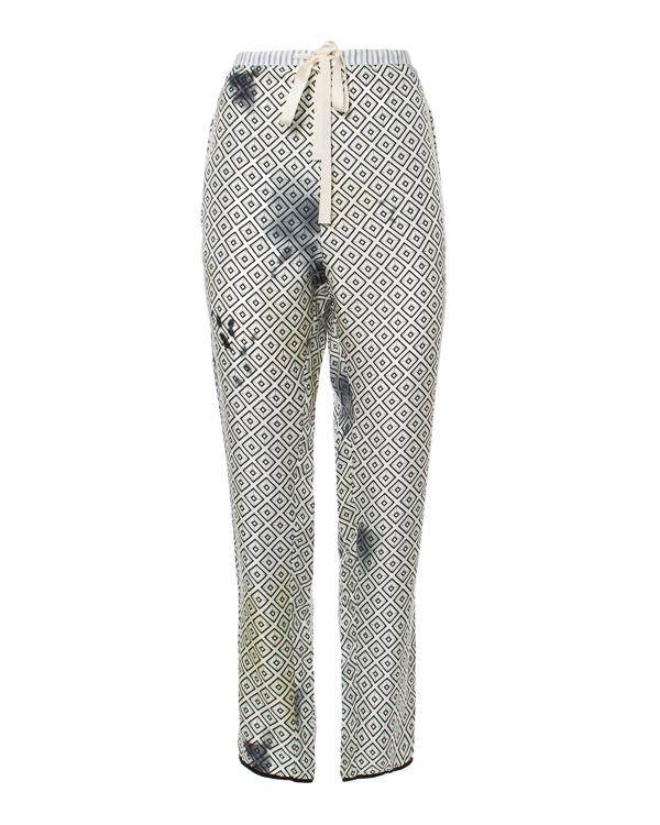 брюки пижамного кроя и легкого шелка с геометрическим принтом артикул S63059166 марки Hache купить за 8100 руб.