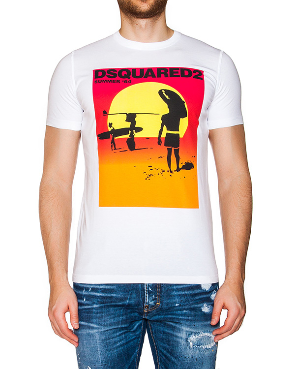 мужская футболка DSQUARED, сезон: лето 2016. Купить за 6700 руб. | Фото $i