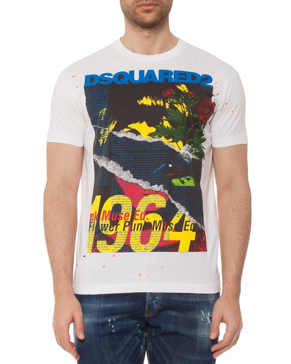 мужская футболка DSQUARED2, сезон: лето 2019. Купить за 12000 руб. | Фото 1