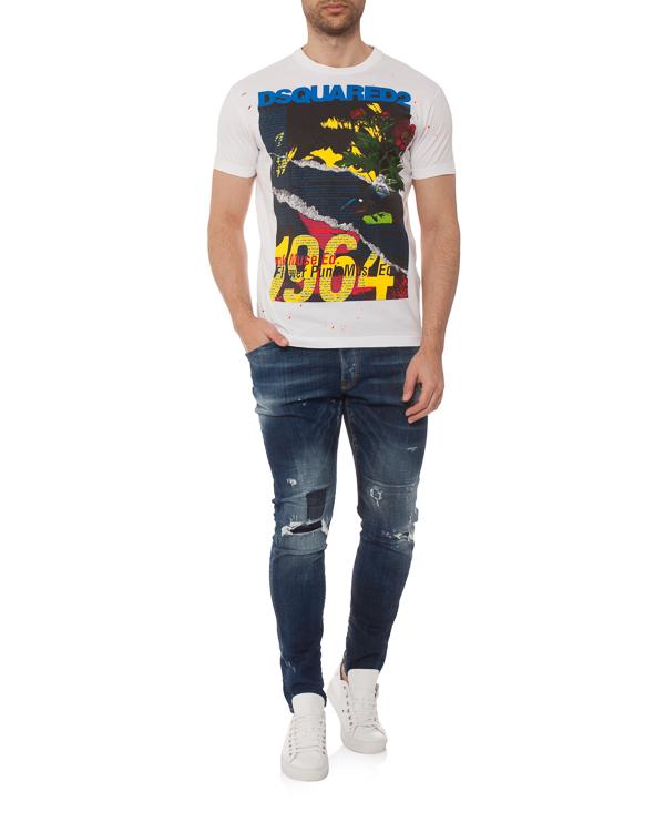 мужская футболка DSQUARED2, сезон: лето 2019. Купить за 12000 руб. | Фото 2
