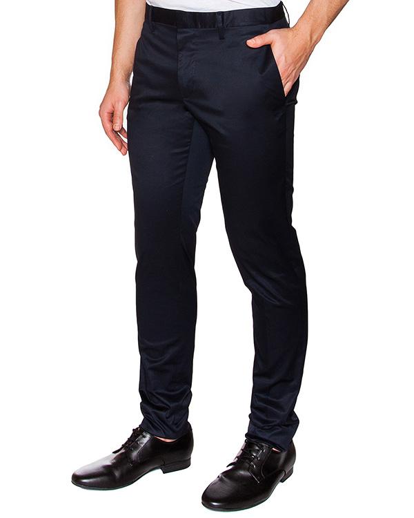 брюки прямого кроя из плотного хлопка артикул S71KA0899 марки DSQUARED2 купить за 17600 руб.